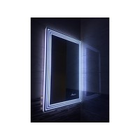 Зеркало в ванную комнату с подсветкой светодиодной лентой Эвелин 170х70 см (1700х700мм)