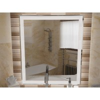Зеркало в ванную комнату с подсветкой светодиодной лентой Люмиро 70х80 см (700х800мм)