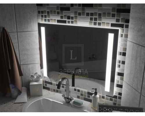 Зеркало с подсветкой для ванной комнаты Мессина 150х80 см