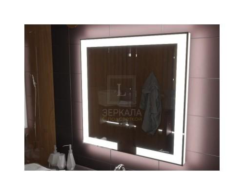 Зеркало с подсветкой для ванной комнаты Новара 75х75 см