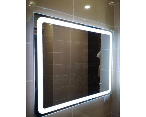 Зеркало для ванной комнаты с LED подсветкой Равенна 75х75