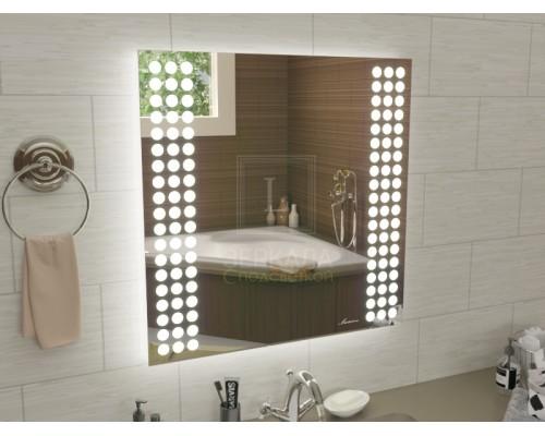 Зеркало с подсветкой для ванной комнаты Терамо 75х75 см