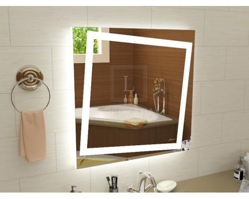 Зеркало с подсветкой для ванной комнаты Торино 75х75 см