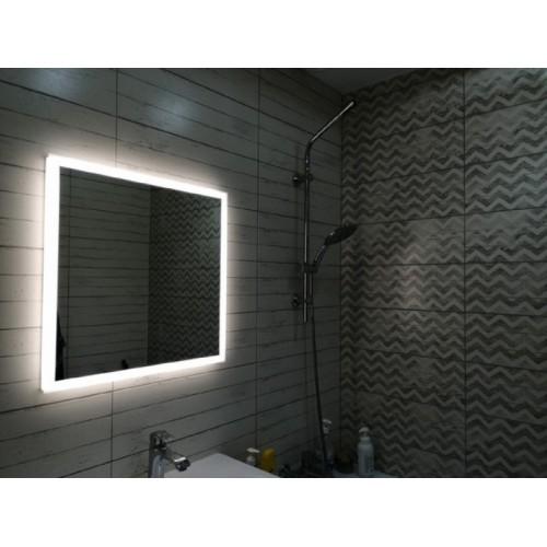 Зеркало с подсветкой для ванной комнаты Верона 45х45