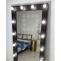 Гримерное зеркало с подсветкой на подставке 180х80 Венге