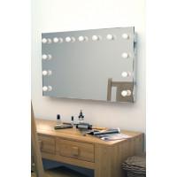 Гримерное зеркало без рамы 100x140 мм с подсветкой светодиодными лампочками