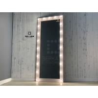Гримерное зеркало цвета розовая патина 190х80 с подсветкой