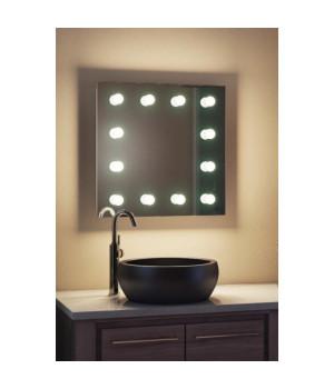 Гримерное зеркало для ванной комнаты 80х80