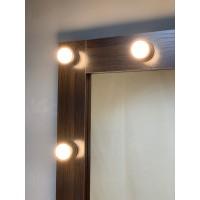 Большое гримерное зеркало 180х80 с подсветкой цвета Венге