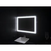 Зеркало в ванную комнату с подсветкой светодиодной лентой Бологна