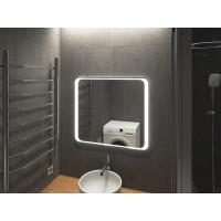 Зеркало в ванную комнату с подсветкой светодиодной лентой Болона