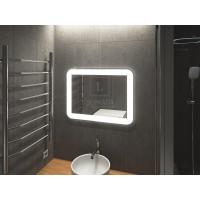 Зеркало в ванную комнату с подсветкой светодиодной лентой Кампли