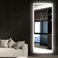 Зеркало с подсветкой для ванной комнаты Верона Слим 135 см