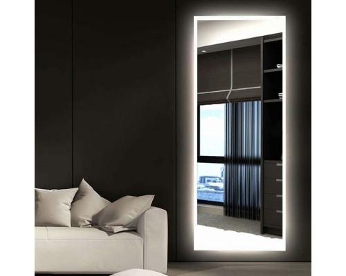 Зеркало с подсветкой для ванной комнаты Верона Слим 150х50 см