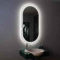 Зеркало с подсветкой настенное для ванной Данте 135х45 см