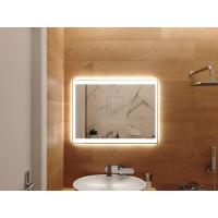 Зеркало в ванную комнату с подсветкой светодиодной лентой Инворио