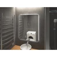 Зеркало в ванную комнату с подсветкой светодиодной лентой Джули