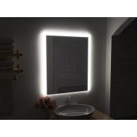 Зеркало в ванную комнату с подсветкой светодиодной лентой Серино