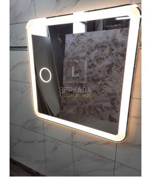 Зеркало в ванную комнату с подсветкой  и увеличением Мила