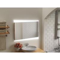 Зеркало в ванную комнату с подсветкой светодиодной лентой Вернанте