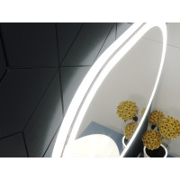 Зеркало в ванную комнату с подсветкой светодиодной лентой Визанно