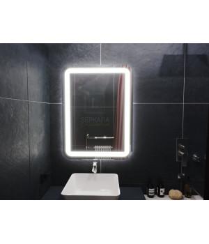 Зеркало в ванную комнату с подсветкой светодиодной лентой Вияна