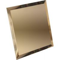 Квадратная зеркальная плитка бронза 120x120 мм