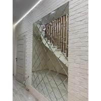 Треугольная зеркальная плитка серебро 120х120 мм