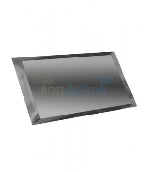 Прямоугольная зеркальная плитка графит 240х120 мм