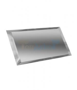 Прямоугольная зеркальная плитка серебро 240х120 мм