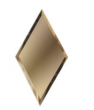 Зеркальная плитка вытянутый ромб бронза 200х340 мм