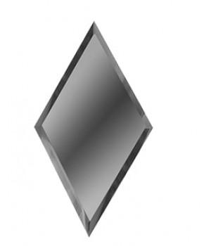 Зеркальная плитка вытянутый ромб графит 200х340 мм