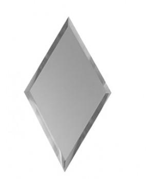 Зеркальная плитка вытянутый ромб серебро 300х510 мм
