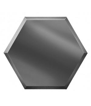 Шестигранная зеркальная плитка соты графит 250х216 мм