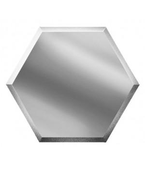 Шестигранная зеркальная плитка соты серебро 200х173 мм