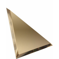 Треугольная зеркальная плитка бронза 180х180 мм