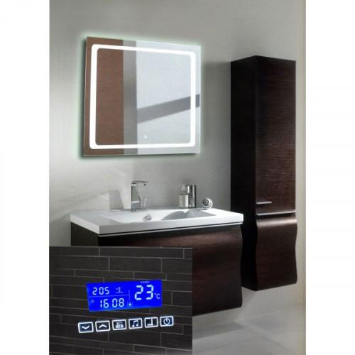 Зеркало для ванной комнаты с подсветкой и радио Катро