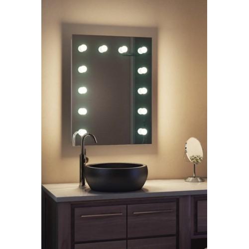 Зеркало в ванную с подсветкой для макияжа ЗВ-Л-2