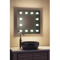 Зеркало в ванную комнату с подсветкой лампочками ЗВ-Л-8