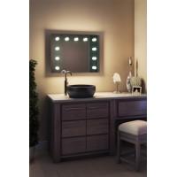 Зеркало в ванную комнату с подсветкой лампочками ЗВ-Л-4