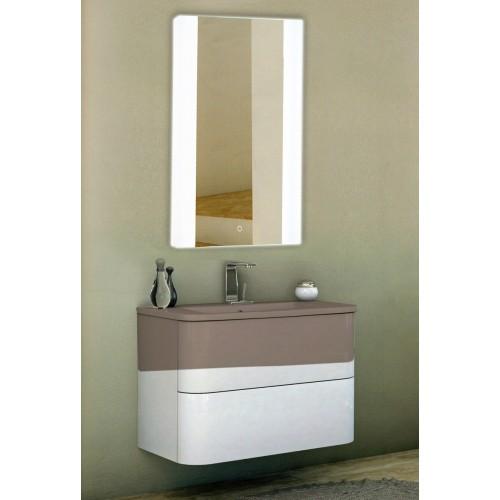 Зеркало в ванную комнату с подсветкой по краям светодиодной лентой