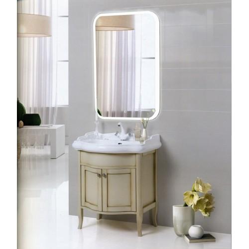 Зеркало в ванную комнату 50х70 с подсветкой Оливия ЗВ-К-12