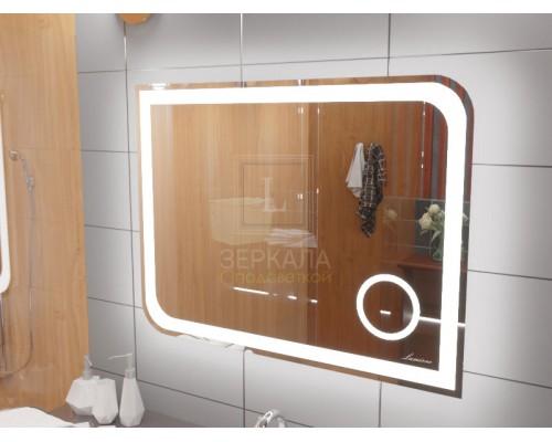 Зеркало с подсветкой и увеличением для ванной комнаты Анкона