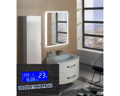 Зеркало в ванную с подсветкой Моретто с музыкой 60х80