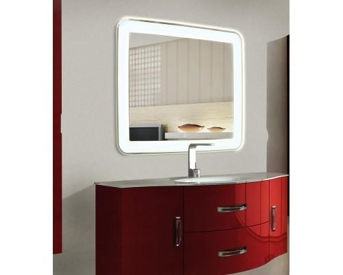 LED зеркало в ванную комнату с подсветкой Мила размером 75x75 см